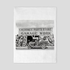 Cherokee Parts Store Vintage Garage Twin Duvet