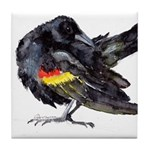 Red-winged Black Bird Tile Coaster