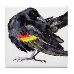 Red-winged Black Bird Tile Coaster