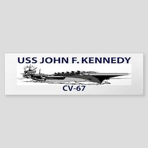 USS JOHN F. KENNEDY CV-67 Bumper Sticker