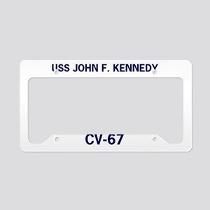 USS JOHN F. KENNEDY CV-67 License Plate Holder