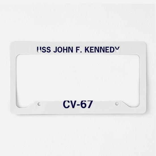 USS JOHN F. KENNEDY CV-67 License Plate Holder