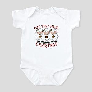 First Christmas Triplet Lambs Infant Bodysuit