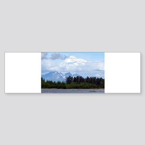 Denali, forest, river, mountains, A Bumper Sticker