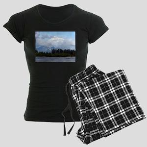 Denali, forest, river, mount Women's Dark Pajamas
