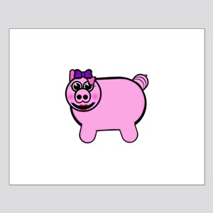 Girly Stuffed Pig Posters