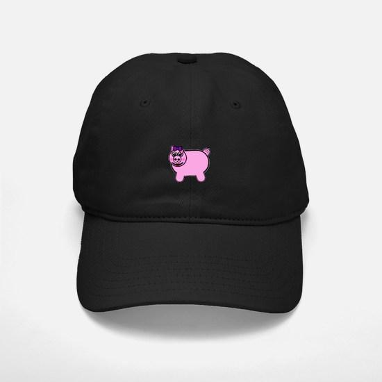 Girly Stuffed Pig Baseball Hat