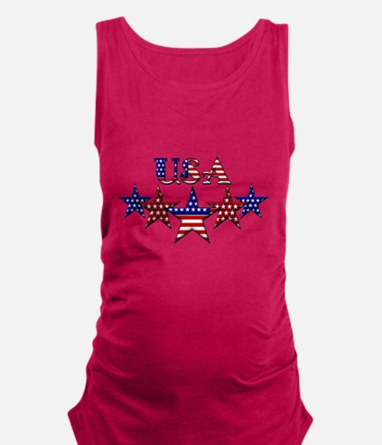 Cute Usa Maternity Tank Top