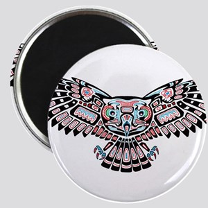 Mystic Owl in Native American Style Magnets