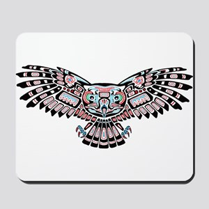 Mystic Owl in Native American Style Mousepad