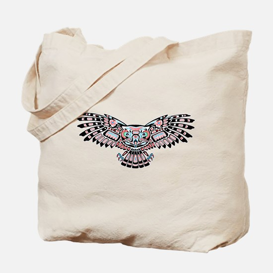 Mystic Owl in Native American Style Tote Bag