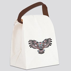 Mystic Owl in Native American Style Canvas Lunch B