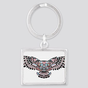 Mystic Owl in Native American Style Keychains