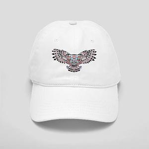 Mystic Owl in Native American Style Baseball Cap