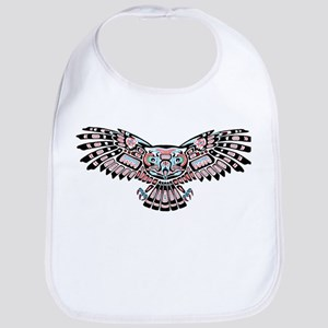 Mystic Owl in Native American Style Bib