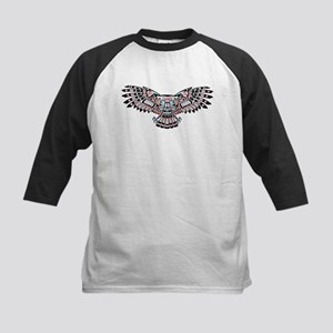 Mystic Owl in Native American Style Baseball Jerse
