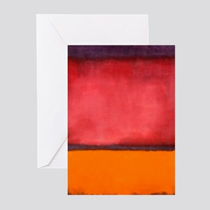 ROTHKO ORANGE RED PURPLE Greeting Cards