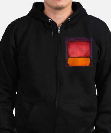 ROTHKO ORANGE RED PURPLE Zip Hoodie