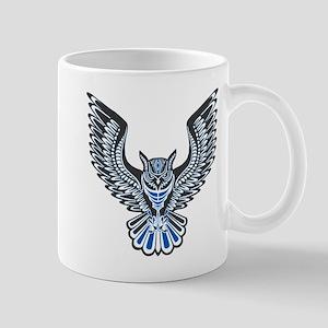 Owl Tattoo: Blue Mugs