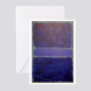 Shades of Purples rothko copy_ Greeting Cards