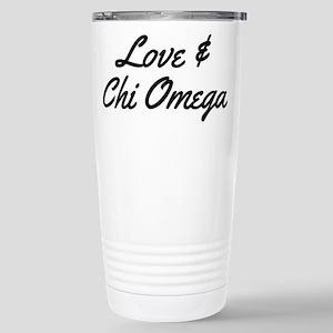 Chi Omega Love 16 oz Stainless Steel Travel Mug