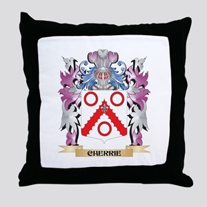 Cherrie Coat of Arms (Family Crest) Throw Pillow