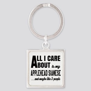 All I care about is my Applehead s Square Keychain
