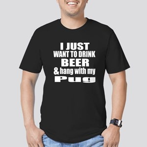 Hang With My Pug Men's Fitted T-Shirt (dark)