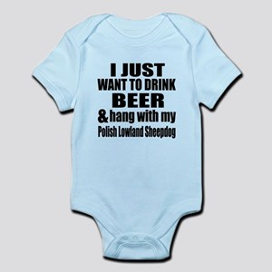 Hang With My Polish Lowland Sheepd Infant Bodysuit