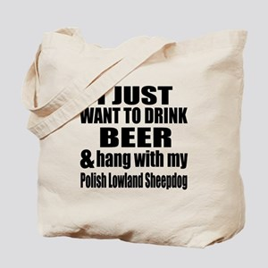 Hang With My Polish Lowland Sheepdog Tote Bag