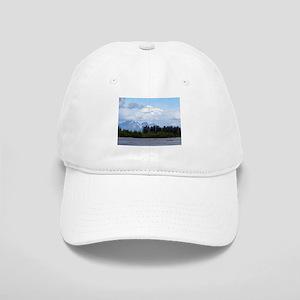 Denali, forest, river, mountains, Alaska 1 Cap