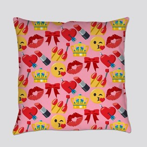 Emoji Girl Pattern Everyday Pillow