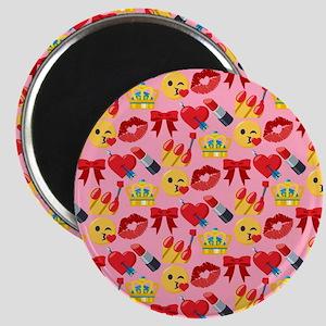 Emoji Girl Pattern Magnet