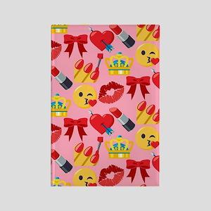 Emoji Girl Pattern Rectangle Magnet