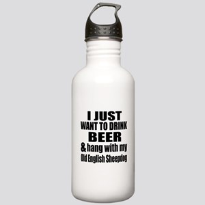 Hang With My Old Engli Stainless Water Bottle 1.0L