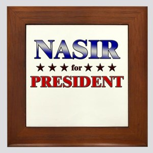 NASIR for president Framed Tile