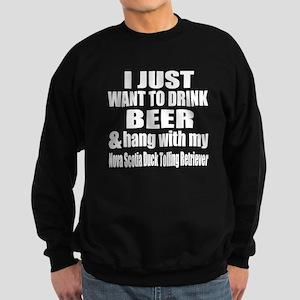 Hang With My Nova Scotia Duck To Sweatshirt (dark)