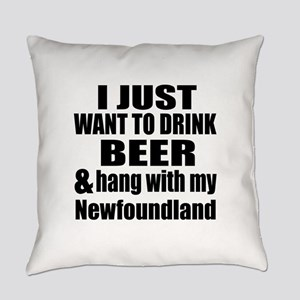 Hang With My Newfoundland Everyday Pillow
