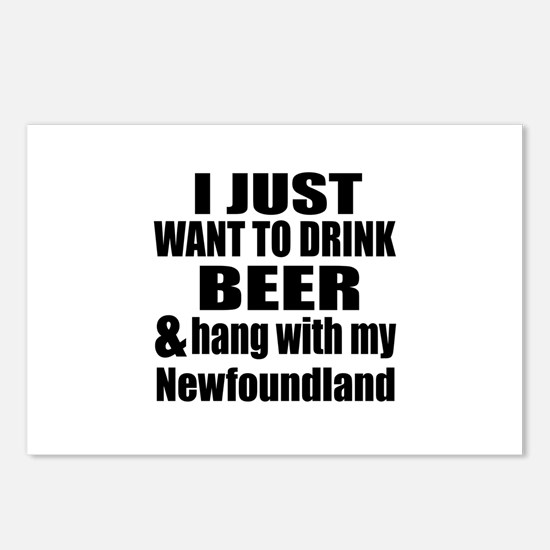 Hang With My Newfoundland Postcards (Package of 8)