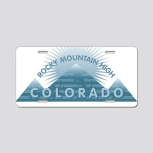 Colorado - Rocky Mountain H Aluminum License Plate