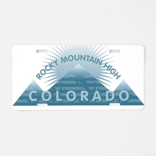 Colorado - Rocky Mountain H Aluminum License Plate