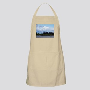 Denali, forest, river, mountains, Alaska 1 Apron