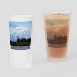 Denali, forest, river, mountains, A Drinking Glass