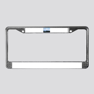 Denali, forest, river, mountai License Plate Frame