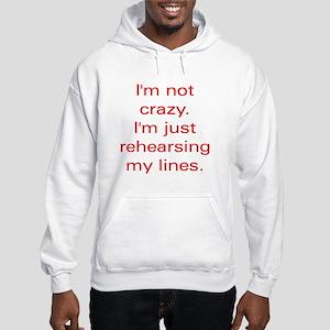 notcrazy red Sweatshirt