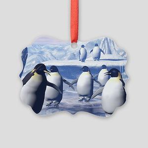 Funny penguins Ornament