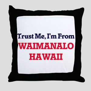 Trust Me, I'm from Waimanalo Hawaii Throw Pillow