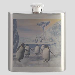Funny penguins Flask