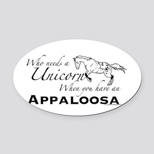 Who Needs A Unicorn Oval Car Magnet