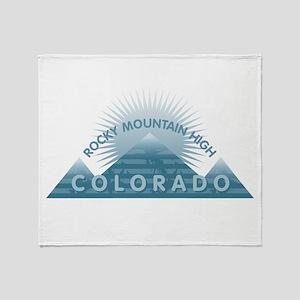 Colorado - Rocky Mountain High Throw Blanket